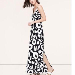 ANN TAYLOR LOFT THE BEDROCK MAXI DRESS